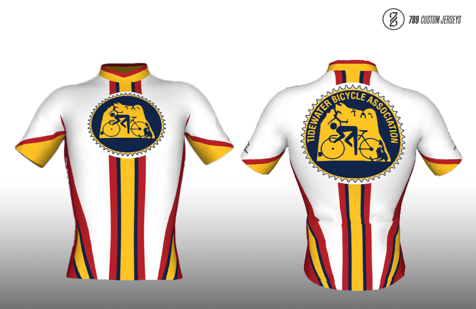 Tidewater Bicycle Association - 789 Cycling Jersey